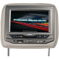 Power Acoustik HDVD-73BG Single 7-Inch Replacement Headrest with DVD and Video Monitor (Beige)