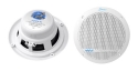 Lanzar AQ5DCW 300 Watts 5.25-Inch Dual Cone Marine Speakers - White Color - Set of 2