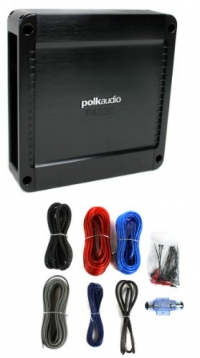 Polk Audio PA330 330W 2 Channel AB MOSFET Car Amplifier Power+Amp Kit Install