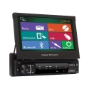 POWER ACOUSTIK PD-720HB In-Dash Single DIN DVD AM/FM Receiver with 7-Inch Flip-Out Touchscreen Monitor and Mobile Link MHL Input