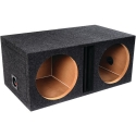 Atrend E15Dv B Box Series 15-Inch Dual Vented Enclosure with Divided Chambers