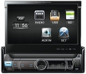 Power Acoustik PDR-780 Single Din Digital Media Receiver with Motorized Flip-Up 7-Inch LCD Touch Screen