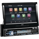 BOSS AUDIO BV9979B Single-DIN 7 inch Motorized Touchscreen DVD Player Receiver, Bluetooth, Detachable Front Panel, Wireless Remote