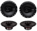 4) New Rockford Fosgate R165X3 6.5 180W 3 Way Car Audio Coaxial Speakers Stereo