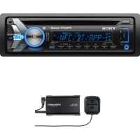 Sony GS Series MEXGS610BT Bluetooth Car Stereo Receiver with SiriusXM SXV300v1 Connect Vehicle Tuner Bundle