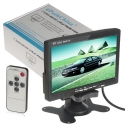 Docooler® 7 TFT LCD Color 2 Video Input Car RearView Headrest Monitor DVD VCR Monitor With Remote and Stand & Support Rotating The Screen