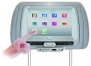 Tview T99DVTS-GR  Two Headrest Touch Screen with Dual Side DVD Player (Gray)