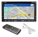 Lanzar SNV695N 6.95-Inch Double-DIN Touchscreen Video DVD/MP4/MP3/CD Player With Hands-Free Bluetooth, GPS w/USA/Canada/Mexico Maps, USB/SD, Aux-In